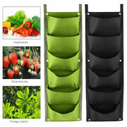 7 Pockets Strawberry Trailing Plants Grow Bags Hanging Planter Flower Pouch Pot