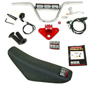 Bbr Complete Handlebar Red Tripleclamp And Tall Seat Kit For Honda Crf50f