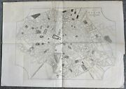 Antique Paris Map Reception Oh Her Majesty By The Emperor At Boulogne 1855