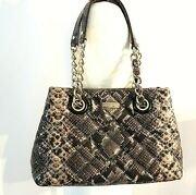 Kate Spade New York Maryanne Gold Coast Snake Skin Quilted Print Hand Bag/purse