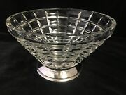 Decorative Vintage Glass Bowl With French Silver 950 Base 8 X 5