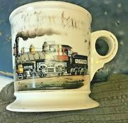 K.c. F.s. And M Railroad Occupational Shaving Mug Circa Late 1800and039s