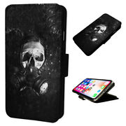 Zombie Gas Mask - Flip Phone Case Wallet Cover Fits Iphone And Samsung Xr S10