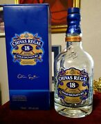 Chivas Regal 18 Year Old Gold Signature Scotch Whiskey Empty 750 Ml Bottle And Box