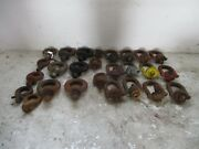 Lot Of 26 Large Rigging Lifting Swivels And Eye Bolts Machinery