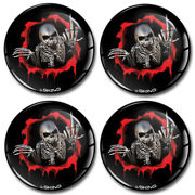 55mm 3d Silicone Stickers Decals Wheel Center Hub Rims Caps Middle Finger Skull