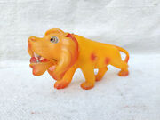 1930s Vintage Lion Roaring Moving Jaws Wild Animal Weighted Celluloid Toy Japan