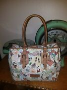 Dooney And Bourke Disneyland Mickey Minnie Cat Leisure Shopper Tote Carry All Bag