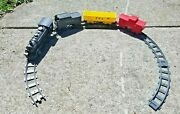 Vintage Marx Battery Operated O Scale Train Set Locomotive Tender 2 Cars+track