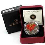 2009 Canada 20 Autumn Showers Crystal Raindrop - Free Tracked Shipping 36119