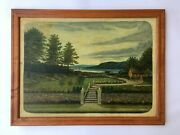 Antique Landscape Original Oil On Board At Raleigh Furniture Gallery