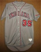 Indiana Hoosiers 35 Gray College Baseball Size 50 Jersey
