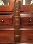 Rare 1855 Nashville Business Directory Tennessee, Campbell History Businesses Tn