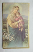 30 Vintage Holy Cards Madonna And Child Protective Acetateenvelopes Fine Condition