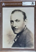 Silent Movies Star Lew Cody Signed 8x10 Photo Moe Howard Collection Bas Slabbed