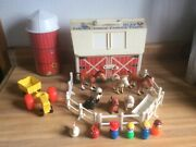 Fisher Price Little People Play Family Farm Barn Vintage