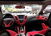 Abs Red Interior Accessories Whole Kit Trim Cover For Hyundai Veloster 2012-2017