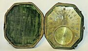 Antique Collectable Dubois French 18 Century Horizontal Brass Sundial+case