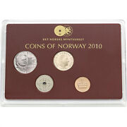 2010 Norway Classic Uncirculated Coin Set Ole Bull 200 Years