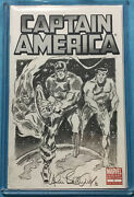 Captain America 1 Blank With Allen Bellman Sketch Cover Human Torch Sub-mariner