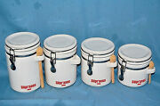 The Sopranos Ceramic Kitchen Canisters Set Of 4 With 3 Wooden Spoons  M3365