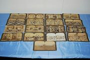 Stereograph Stereogram Cards Antique Listed Subjects 1890-1910 Lot Of 36  S3910