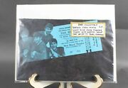 The Beatles Rare Collectible Giant Blue Movie Ticket At Royal Theatre 715w