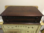 Antique Willimantic Thread/ Spool Store Counter 2 Drawer Display Cabinet Rare.