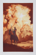 John Duillo The Lone Rider Lithograph Signed And Numbered In Pencil
