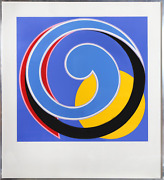Clifford Singer Etude In Resonnance Screenprint Signed And Numbered In Pencil