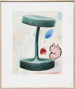 Edward Henderson Untitled 2 Mixed Media Painting On Paper Signed And Dated