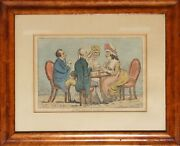 Henry William Bunbury, Two Penny Whist, Hand-colored Etching