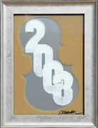 Arman New Yearand039s Card 2003 Stencil Print On Aluminum And Cut Out Cardboard S