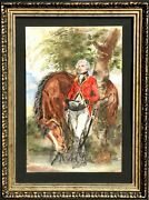Marshall Goodman George Washington And Horse Watercolor On Paper