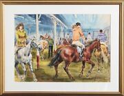 Marshall Goodman Untitled - Riding Class Watercolor On Paper