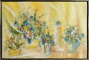 Susan Pear Meisel, Flowers 2, Oil On Canvas, Signed L.r.