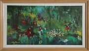 Leroy Neiman Hunt Of The Unicorn Canvas Transfer Print Signed In The Plate