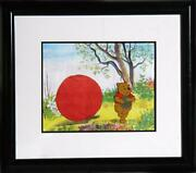 Walt Disney Studios Pooh Running With The Honey Hand Painted Production Cel Wi