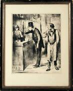 Honore Daumier Ami Du Personne Lithograph Signed In The Plate