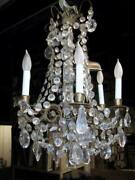 Antiques Crystal Beaded Chandelier Brass Chandelier With Crystals And Candle S