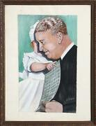 Unknown Artist Father And Daughter Gouache On Paper Signed And039m. Kleinand039 L.r.