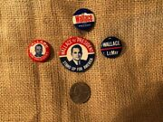 George Wallace President Pin Pinback Political Button Lot Of 4