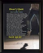 John Greenleaf Whittier Donand039t Quit Poster Print Picture Or Framed Wall Art