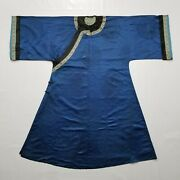 Antique Chinese Silk Robe With G T Marsh And Co. Stamp