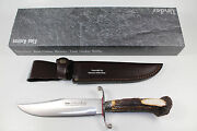 New German Classic Linder Old Western Bowie Crown Stag Hunting Knife 440a Steel