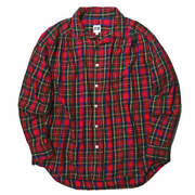 Aie Arts In Education 18aw Painter Shirt Tartan Check M Red Gathered Tops