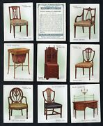 Tobacco Cigarette Cards 1923 Old Furniture, Antiques Cabinet ,chairs, Tables,