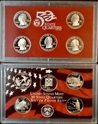 2008 San Francisco Proof State Quarter Set 90 Silver Box And Coa 5 Coins 3792