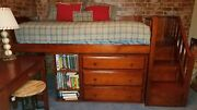 Maxwood For Matrix Twin Storage Bed Room Set Excellent Condition Chestnut Finis