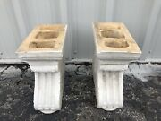 Pair Of Marked Galloway Terracotta Bench Bases 15andrdquo X 7 1/4andrdquo X 15 1/2